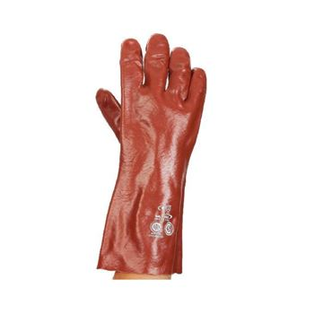 Imagen de Guante de PVC rojo de 35cm